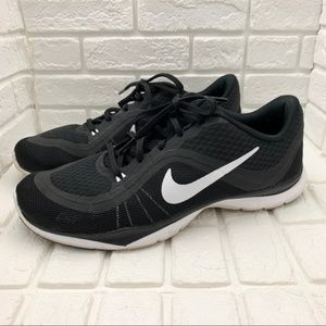 Nike flex trainer 6 black white sneakers wide
